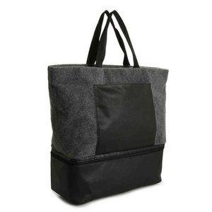 NEW DSW Exclusive Medium Gray Felt Tote Shoe Bag